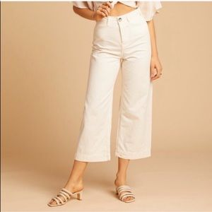 NWT Free People Patti Crop Pants in Ivory Size 27